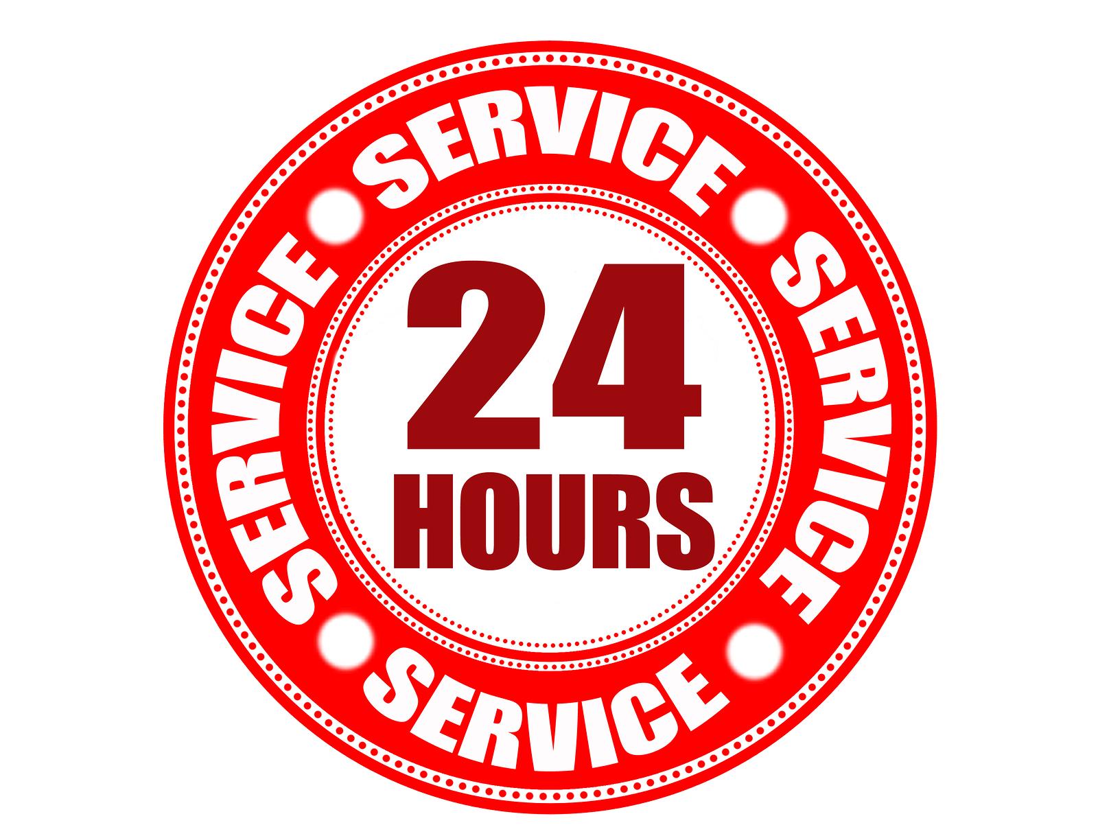 bigstock-Label-Hour-Service-9556910